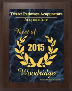 Award winning Acupuncture in Woodridge, IL 2015